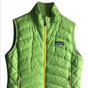 Patagonia Lime Green Down Vest